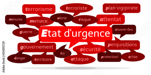 Fotografía  Nuage de Mots État d'urgence v3