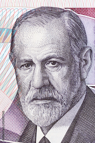 Fotografija  Sigmund Freud portrait from Austrian money