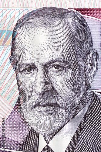 Fotografiet  Sigmund Freud portrait from Austrian money