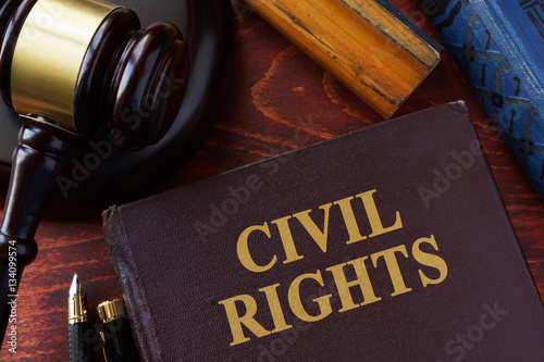 Civil Rights title on a book and gavel. Canvas-taulu