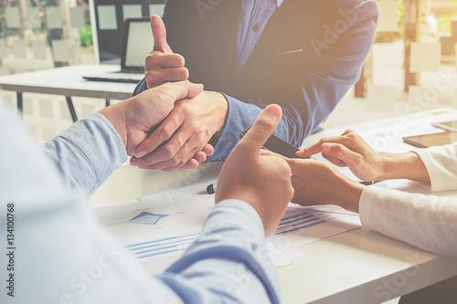 Fotografie, Tablou  Teamwork Join Hands Support Together Concept