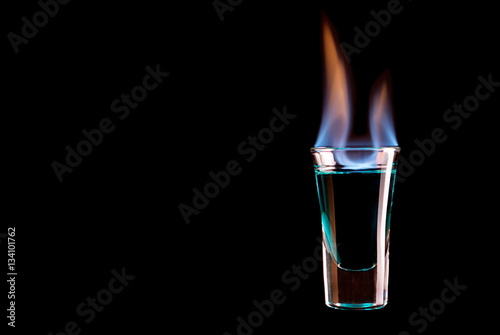 Fototapeta  burning glass shots