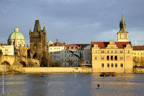 Staande foto Praag Architecture from Prague and cloudy sky