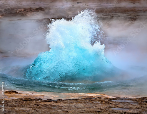 Strokkur geyser eruption Canvas Print