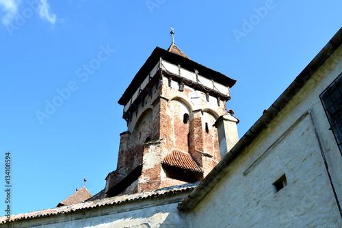 Fotografie, Obraz  Fortified medieval church in Vineyard Valley, Transylvania