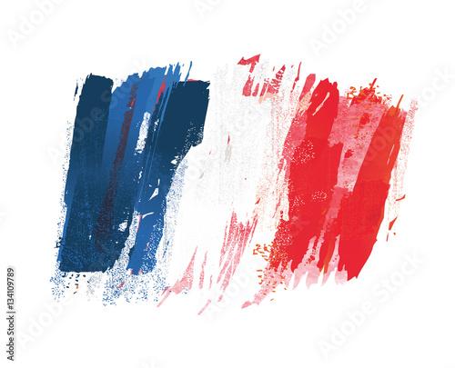 drapeau français,  drapeau de la france Fototapet