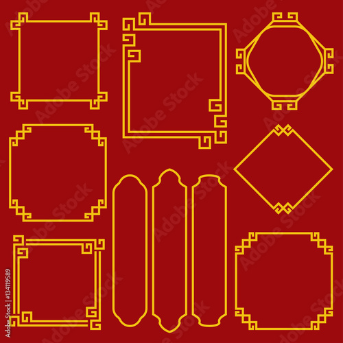 chinese new year border for decoration design element vector il