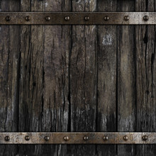 Old Medieval Barrel Wood Background