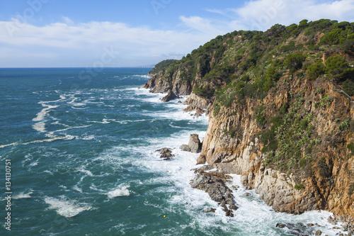 Papiers peints Cote Mediterranean rocky coast. Tossa del Mar, Costa Brava, Catalonia, Spain