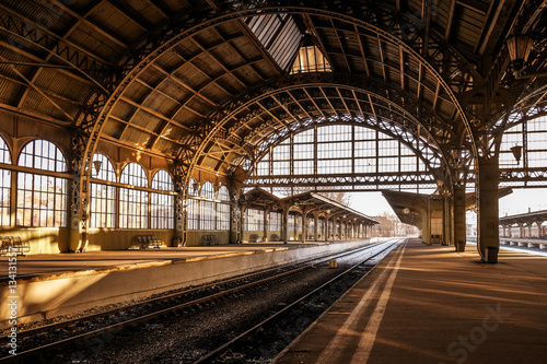 Tablou Canvas Vitebsky railway station during sunset
