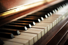 Piano Keyboard Of An Old Music...