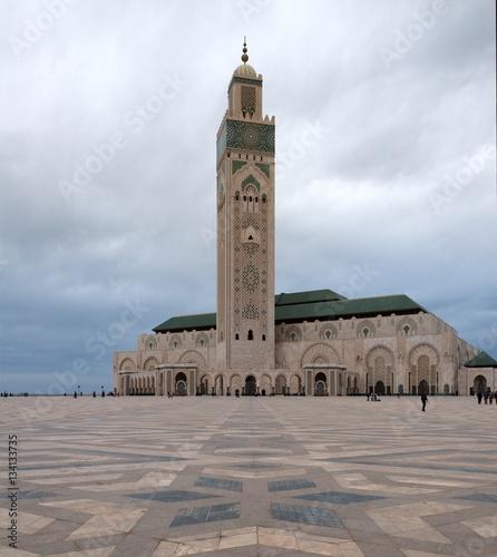 Spoed Foto op Canvas Marokko Die Hassan-II.-Moschee in Casablanca