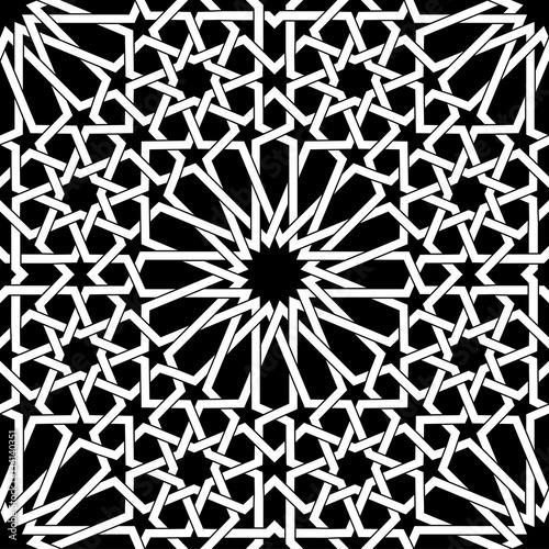 Photo Islamic geometric seamless pattern