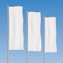 White Banner Flag Vector Templ...