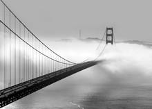 Foggy Morning At The Golden Gate Bridge In San Francisco