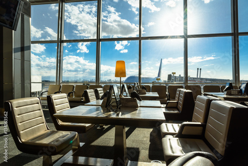 Poster Aeroport Airport lounge seating area