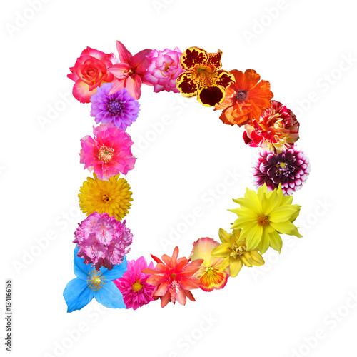 Flower Letter D   Buy this stock photo and explore similar images