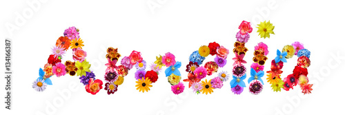 Flower Name Amelia Wallpaper Mural