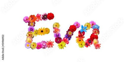 Flower Name Eva Canvas-taulu