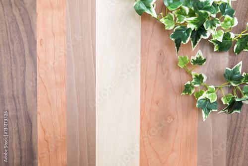 Deurstickers koffiebar 植物と木目