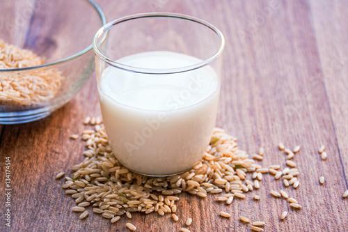 rice milk in a glass
