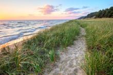 A Walk On The Beach. Sandy Tra...