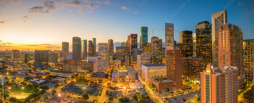 Fototapety, obrazy: Downtown Houston skyline