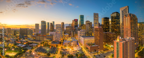 Spoed Fotobehang Centraal-Amerika Landen Downtown Houston skyline