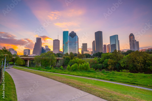 Poster Texas Downtown Houston skyline