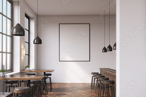Fototapeta Bar with poster obraz