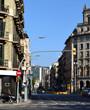 Barcelona Street with views of Mount Tibidabo