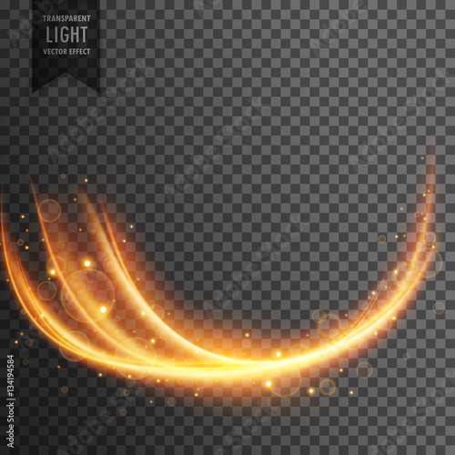 Fototapety, obrazy: wavy transparent light effect
