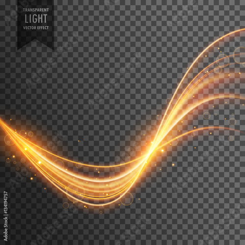 Fototapety, obrazy: transparent light effect in gold color