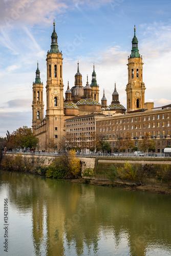 View of Basilica Pilar in Zaragoza , Spain.
