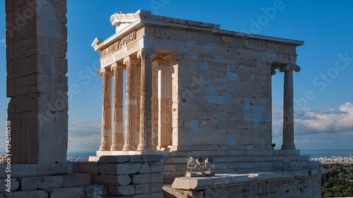 Tuinposter Athene Propylaea -monumental gateway in the Acropolis of Athens, Attica, Greece