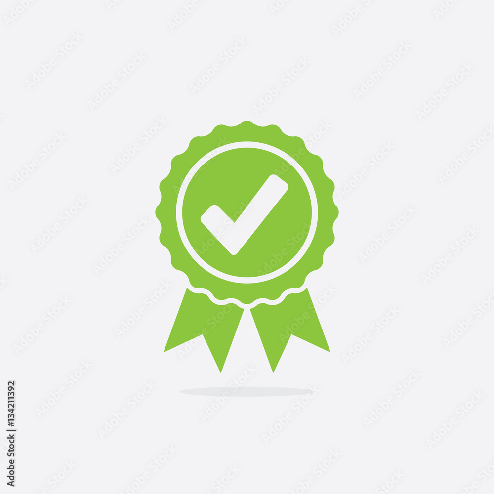 Fototapeta Approved or Certified Medal Icon