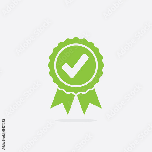 Obraz Approved or Certified Medal Icon - fototapety do salonu