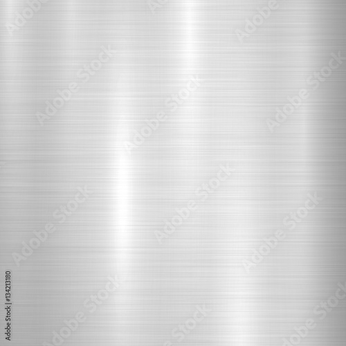 Fototapeta Metal abstract technology background with polished, brushed texture, chrome, silver, steel, aluminum for design concepts, web, prints, posters, wallpapers, interfaces