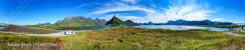 Keuken foto achterwand Panoramafoto s Lofoten archipelago panorama