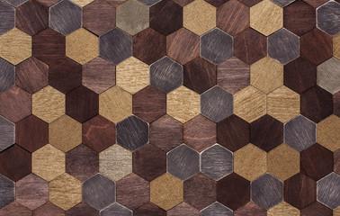 Fototapetasurface of wooden hexagons