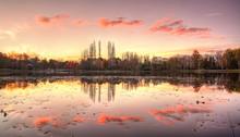 Lake Burley Griffin In Canberra, Australian Capitol Territory. Australia.