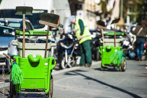 Fotografie, Obraz  Pulizia delle strade