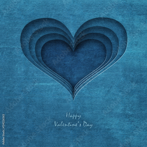 Photo Stands Personal jeans heart , happy valentine's day - abstract romantic background ( valentine )