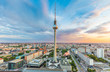 Berlin skyline with TV tower at sunset, Germany
