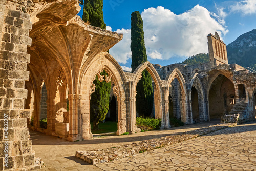 Photo Stands Cyprus Bellapais Abbey in Kyrenia, Northern Cyprus