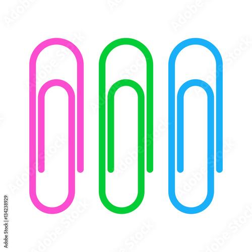 Fotografie, Obraz  Paperclip icon