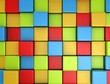3d colored cubes background