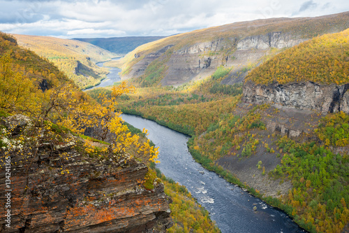 Photo The Alta canyon: view of River Alta and gorge. Finnmark, Norway