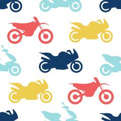 Tapeta Retro motorcycle seamless pattern