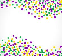 Bright Abstract Dot Mardi Gras Pattern